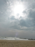 Playa Mar Bella 11h dia 20.03.15 en pleno eclipse parcial de Sol